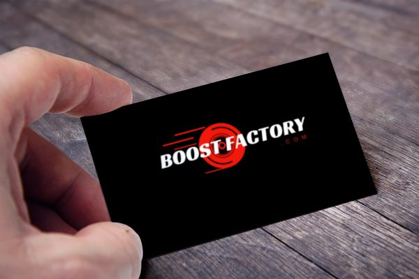 boost factory business card view