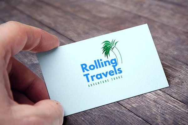 rolling travels logo card view