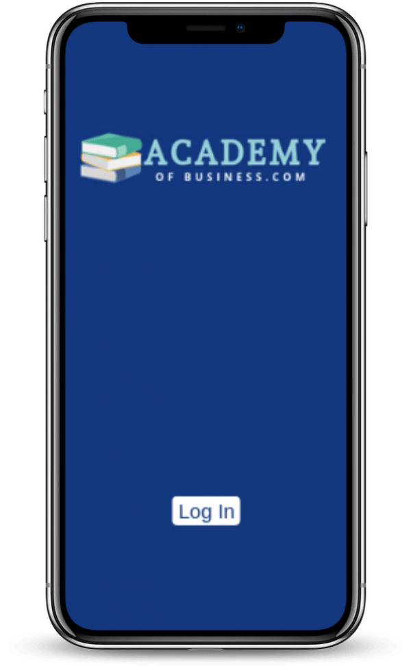 academyofbusiness mobile view