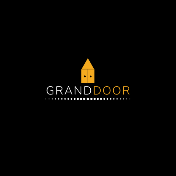 Grand Door Black Logo