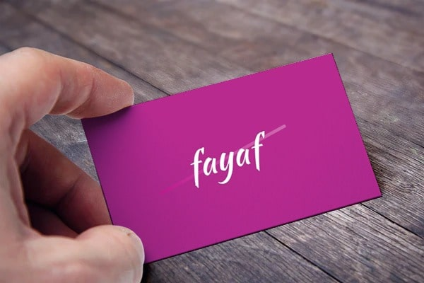 fayaf card view
