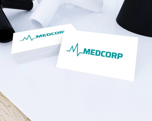 med corp business card view