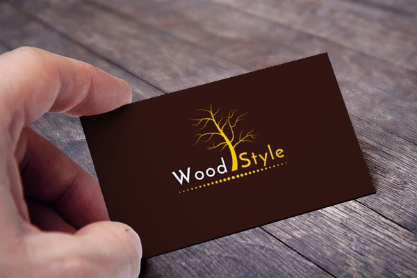 wood style card view