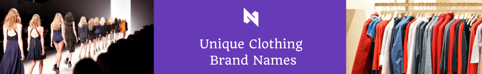 clothing brand name ideas