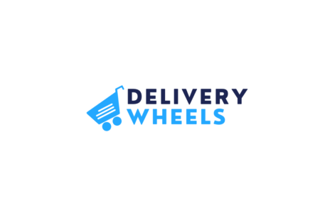 Delivery wheels white logo